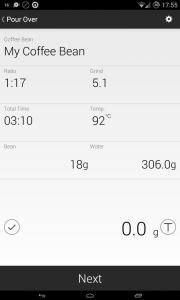 Aplikacja Acaia Scale pod Androidem