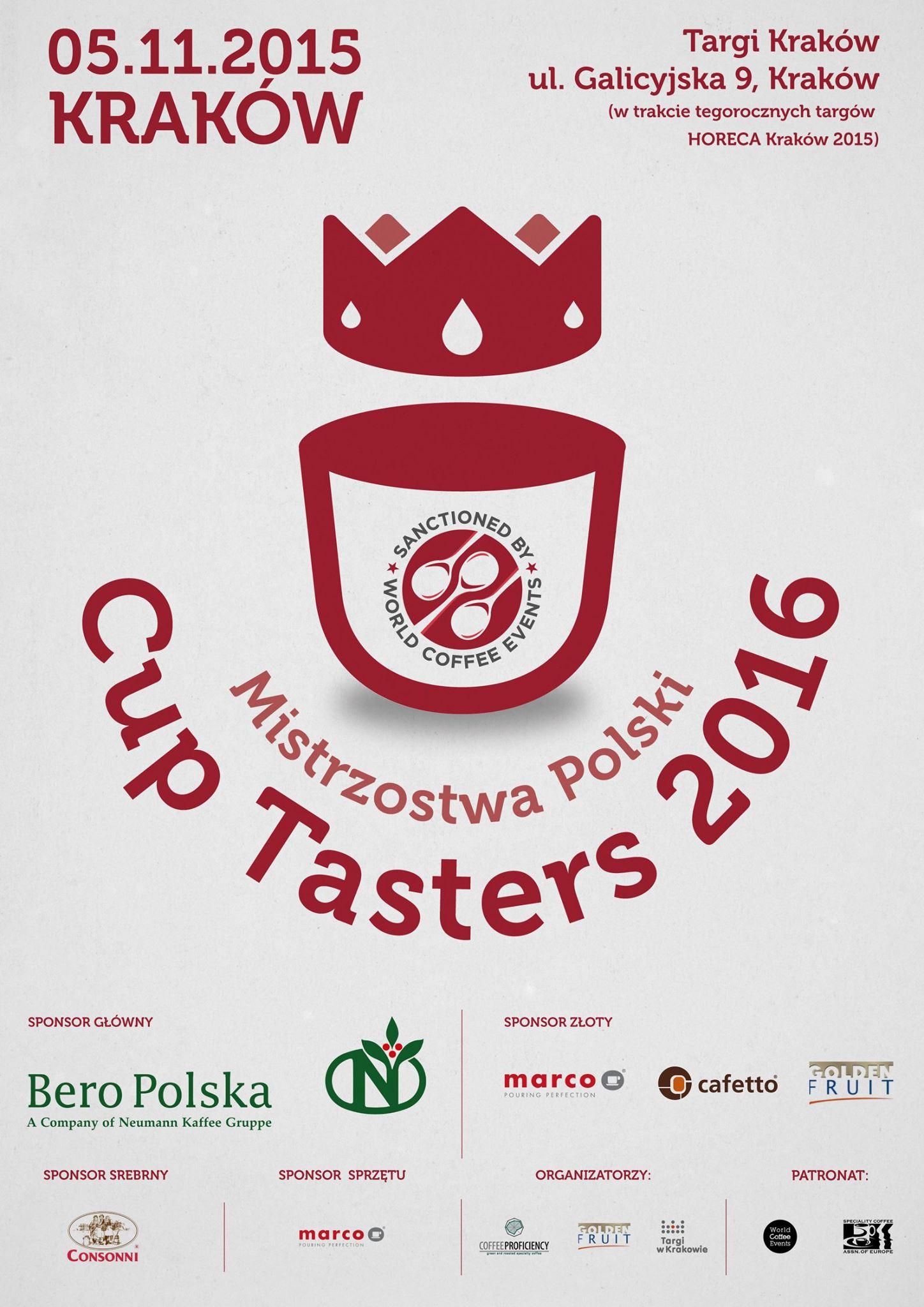 Mistrzostwa Polski Cup Tasters 2016 – Zaproszenie